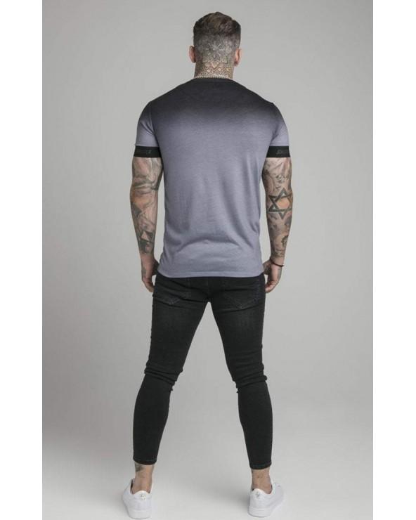 Camiseta M/L Khaki Rayas Mangas - SikSilk