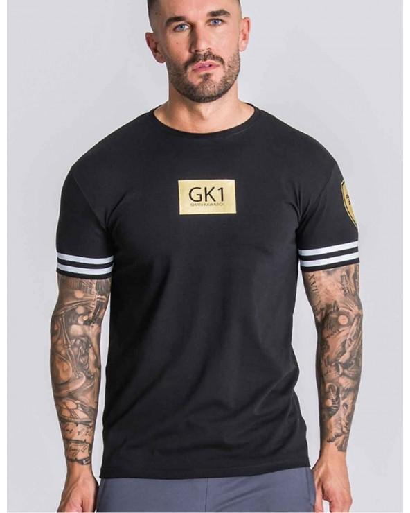 Camiseta Gianni Negra Logo Oro