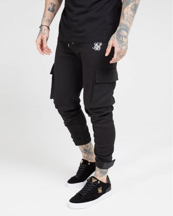 Pantalón Cargo SikSilk Negro